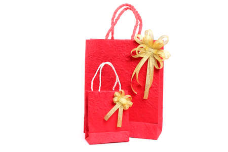 Red bag for Chinese New Year on white background Stock Photo - 23771112