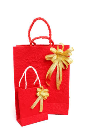 Red bag for Chinese New Year on white background Stock Photo - 23771111