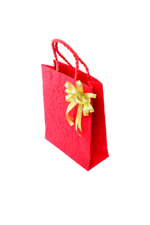 Red bag forNew Year on white background Stock Photo - 23771113