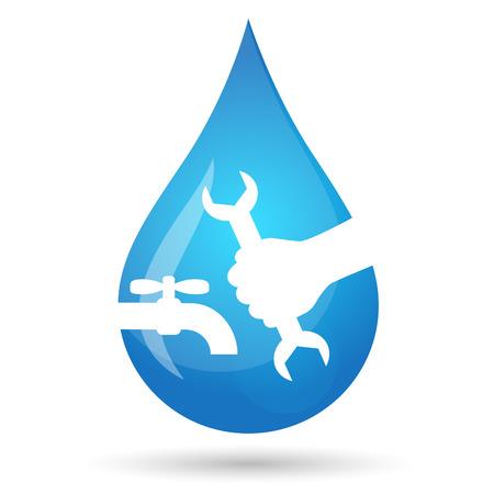 waterpipe: Symbol for repair of plumbing and sanitary equipment
