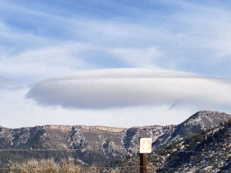 lenticular: Lenticular Cloud Over Sandia Mountains, Albuquerque, New Mexico, United States