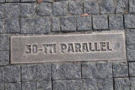 paving stone 50 parallel Stock Photo