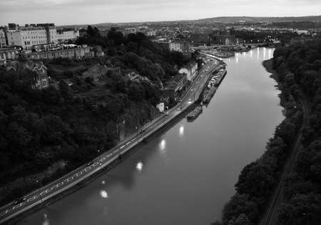 Panoramic View from The Clifton Suspension Bridge, Bristol, Uk  photo