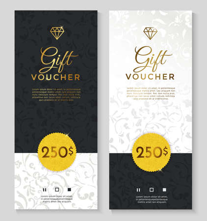 Luxury style gift voucher template design