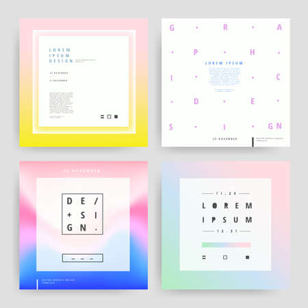 Set of Graphic design templates. Stock Illustratie