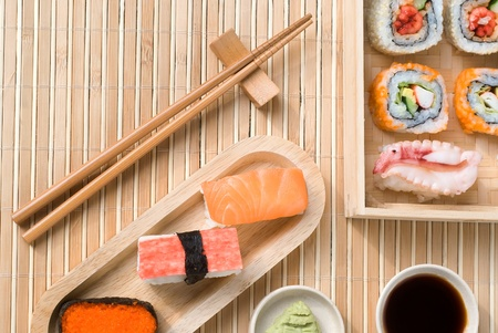 Set van Sushi Stockfoto