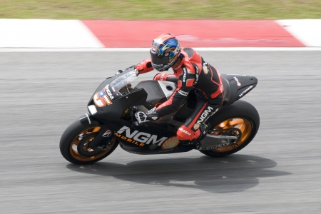 Sepang, Maleisië-1 maart: Colin Edwards van NGM Mobile Forward Racing in 2012 MotoGP Official Test Winter Sepang 2 op 1 maart 2012 in Sepang, Maleisië. Redactioneel