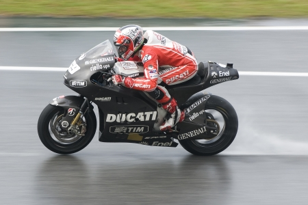 SEPANG, MALAYSIA-FEB 29:Nicky Hayden of Ducati Team at 2012 MotoGP Winter Test 2 on Feb 29, 2012 in Sepang, Malaysia.