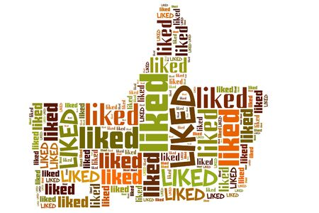 liked info-text graphics and arrangement concept (word cloud)