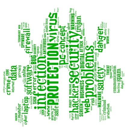 Computer Virus info-text graphics and arrangement concept (word cloud)  Stock Photo