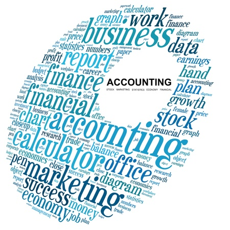 Accounting in word collage  Stock Photo