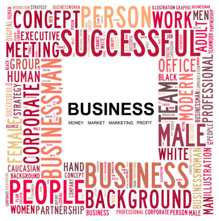BUSINESS  Word collage on white background