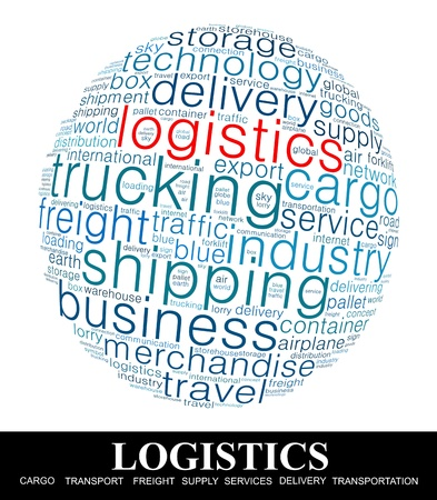 Logistics Word collage on white background