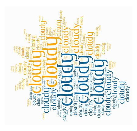 Cloudy word collage in white background