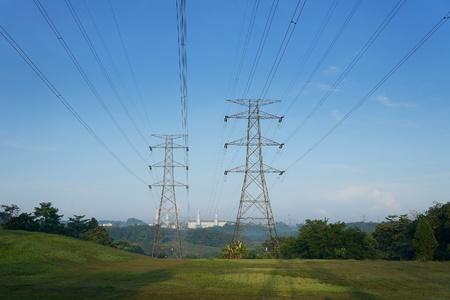 Power station power line                                 Stock Photo - 16665114