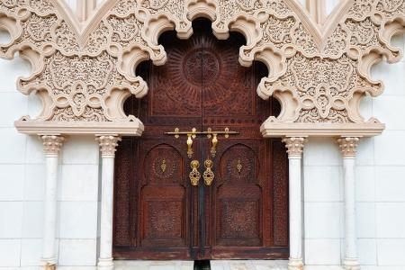 Marokkaanse architectuur traditioneel ontwerp Stockfoto