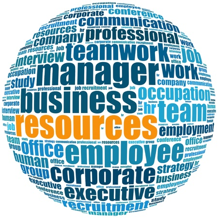 Resources info-text graphics and arrangement concept  word cloud  in white background  photo