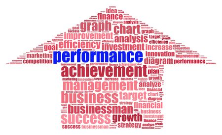 Performance info-text graphics and arrangement concept  word cloud  in white background