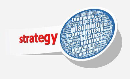 Strategie in woord collage