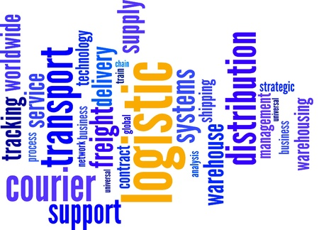 forwarder: Logistics Word collage on white background