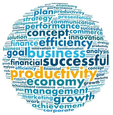 productividad: Concepto de productividad en la palabra collage