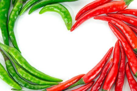 Heart with pepper photo