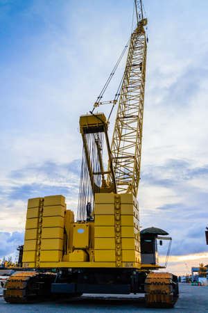 crawler: Crawler crane Stock Photo