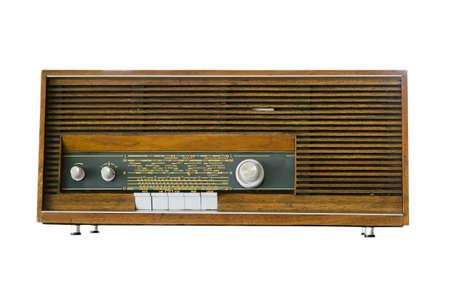 old radio: old radio isolated and white background