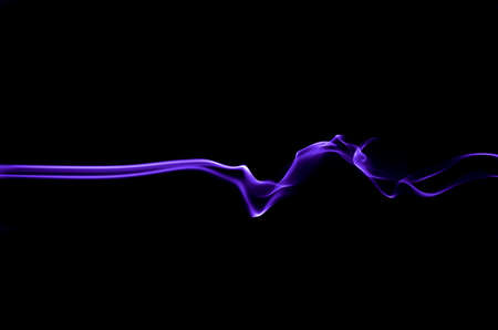 The light trails resemble smoke that moves back and forth, like waves and like an explosion. 写真素材