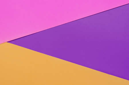 Color paper background overlapping of purple, pink and orange