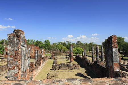 the old temple in ayutthaya photo