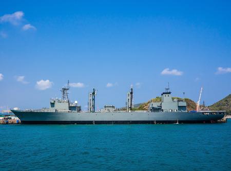battleship: battleship at the harbor