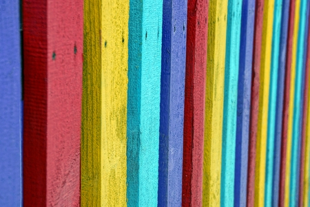 laths: Colored texture of laths of wooden fencing