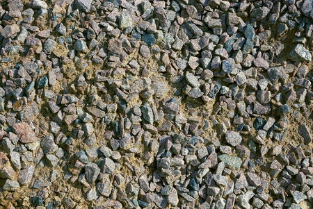 Texture of small stones and gray sand Stock Photo