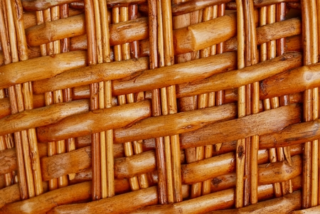 brown texture of dry thin branches in weaving