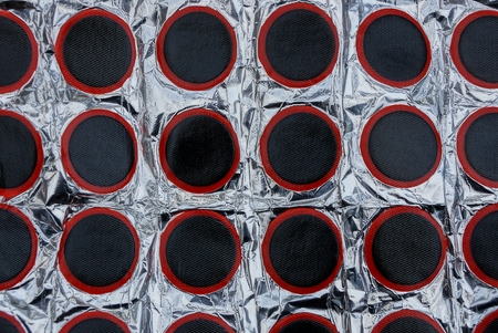 The texture of black rubber lining for repairing bicycle cameras Stock Photo