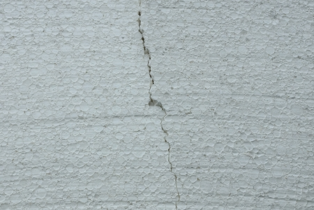 gray white plastic texture of a piece of polystyrene of crack Stock Photo
