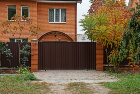 brown metal gates