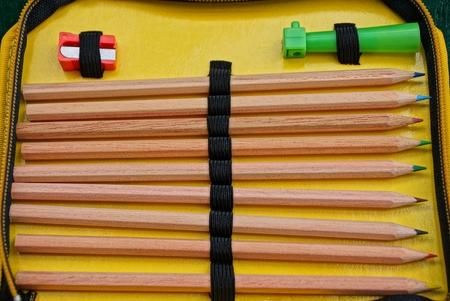 set of brown wooden pencils 版權商用圖片