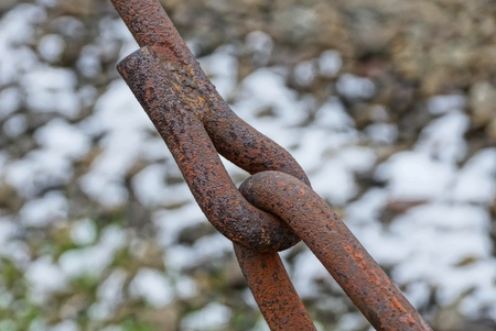 rusty brown iron bars in old construction