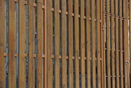 the wall of the fence