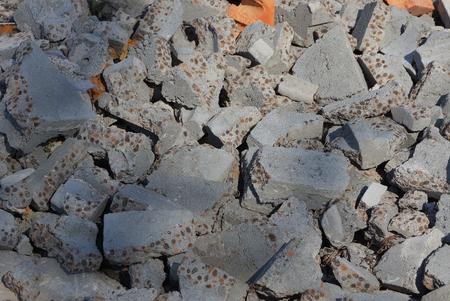 Concrete and stones Stock Photo