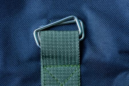 gray metal carbide sewn to the black fabric Standard-Bild