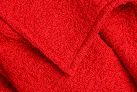 red fabric texture woolen garment with collar