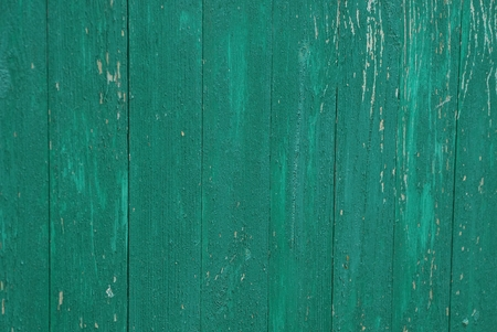 green wooden texture from old wide fence boards