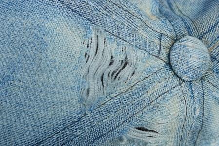 blue white worn thread fabric