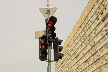 traffic lights on the street