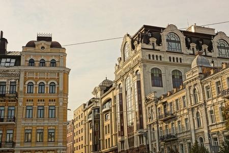 apartment buildings against the sky 版權商用圖片
