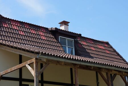 tiled roof 스톡 콘텐츠
