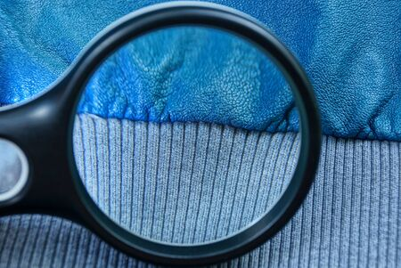blue skin on a piece of clothing